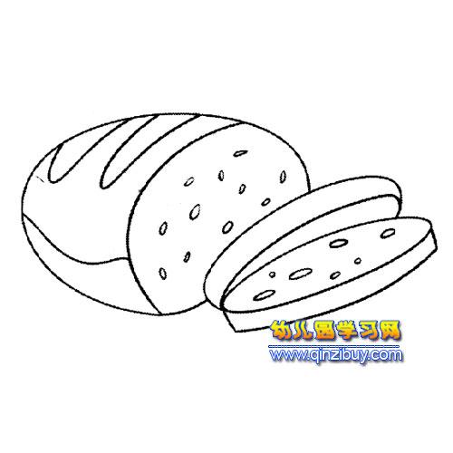 简笔画 面包4