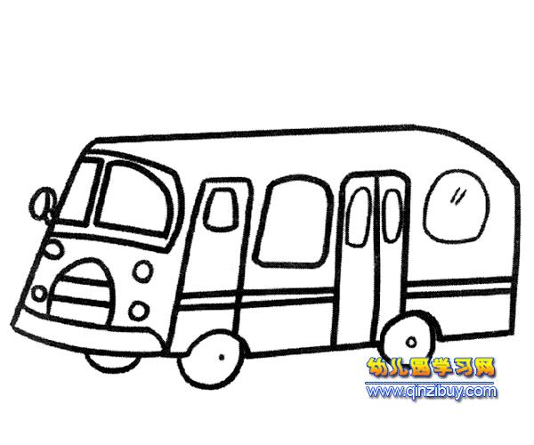 公共汽车简笔画_公共汽车简笔画大全_公共汽车卡通图片_排行榜网