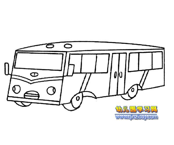 简笔画:长形公交车2 幼儿园教案网
