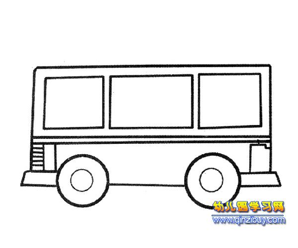 简笔画 复古公交车