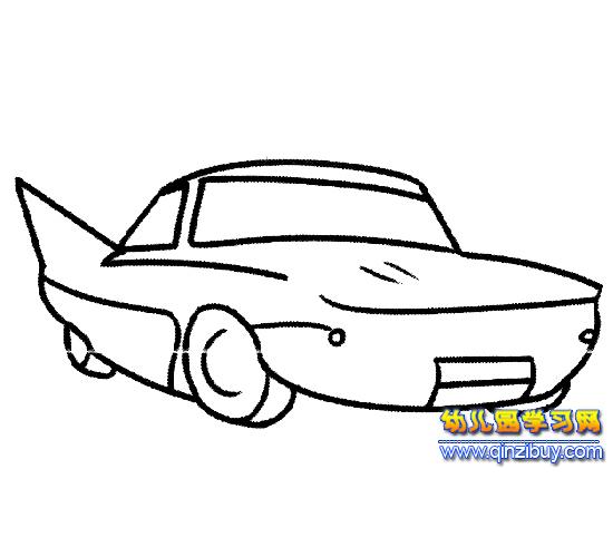 汽车简笔画 赛车3高清图片