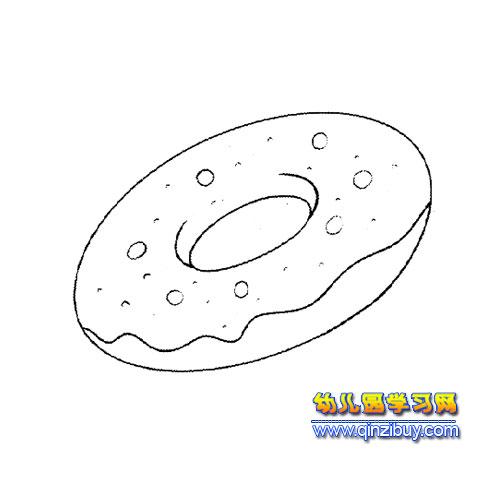 简笔画 甜甜圈面包1