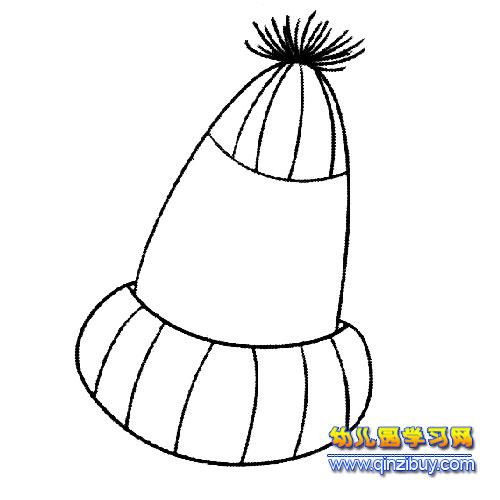 简笔画:小孩毛线帽3