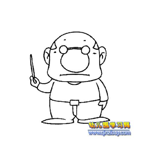 木老师简笔画-滑板小子