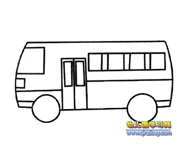 简笔画:一辆公交车4—幼儿园学习网