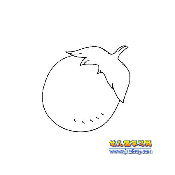 简笔画 圆圆的茄子1