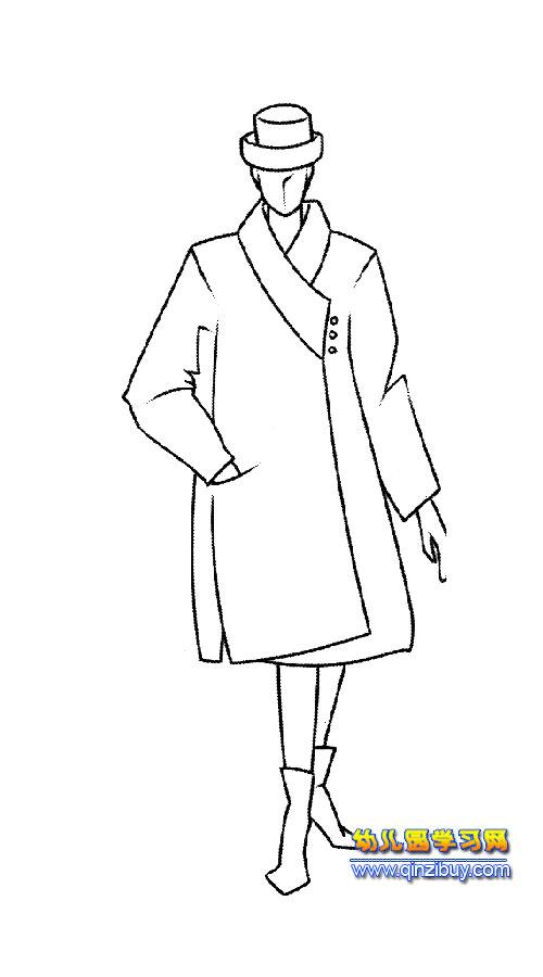 简笔画:男模特3—幼儿园学习网