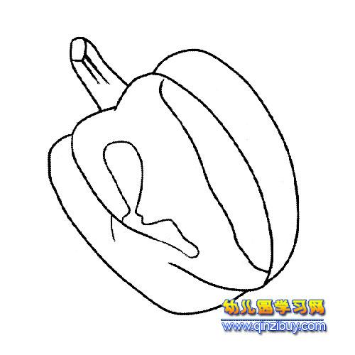 被虫吃了的辣椒简笔画2
