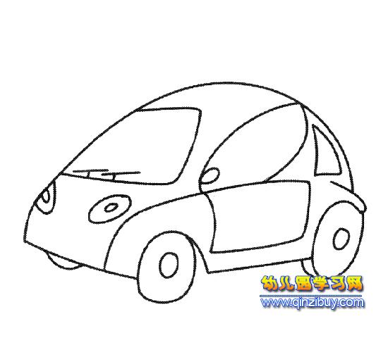 汽车简笔画:面包车3—幼儿园教案网