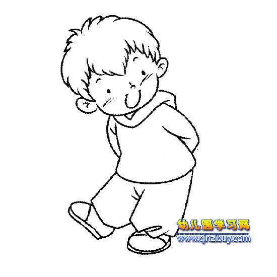 卡通小男孩简笔画_可爱卡通男孩简笔画_卡通男孩简笔画图片