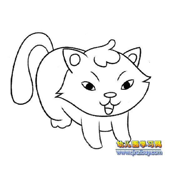 可爱的小猫简笔画6