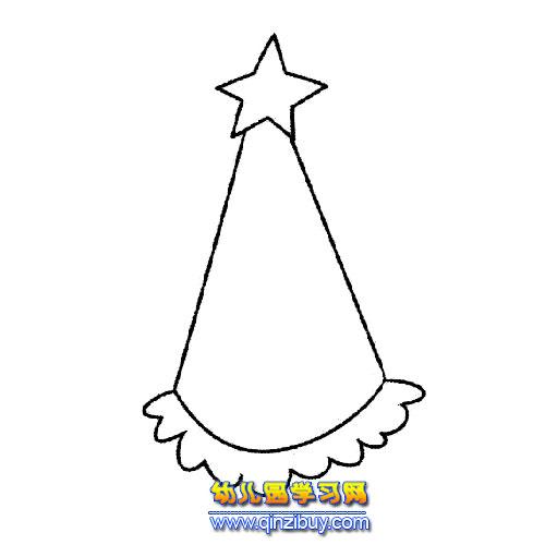 圣诞帽简笔画应该如何画?