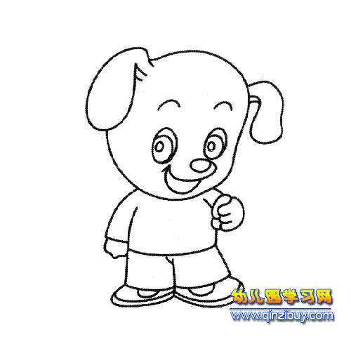 简笔画 卡通小狗1