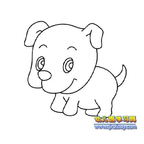 动物简笔画(小狗)3 幼儿园学习网