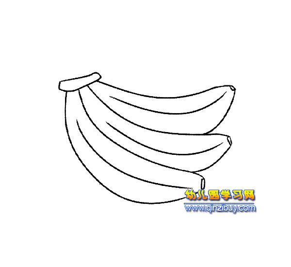 香蕉 水果簡筆畫 4