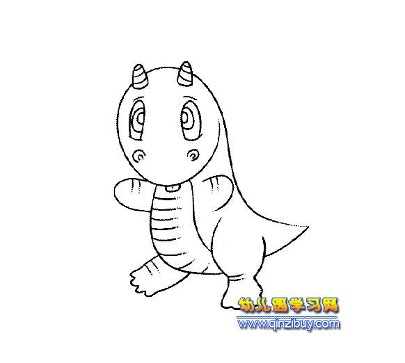 可爱的小恐龙【简笔画】2-可爱的小恐龙 2