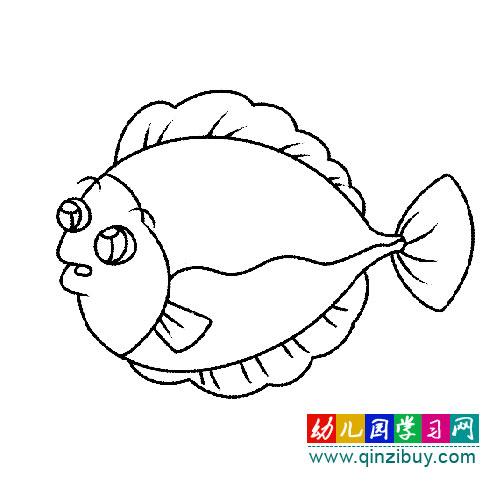 一条小鱼1 简笔画