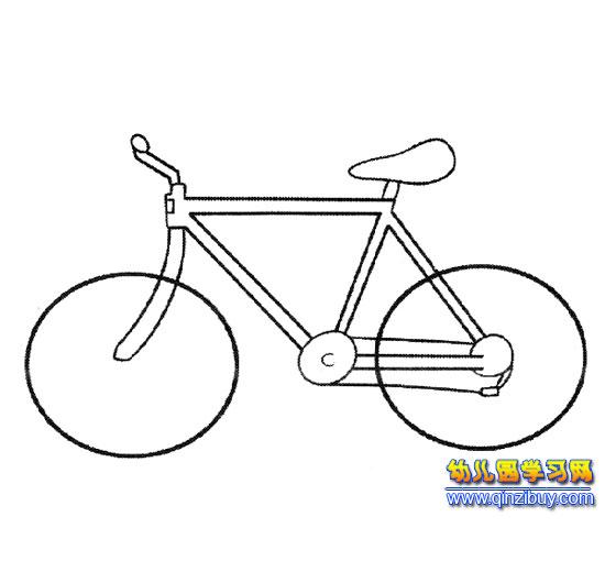 自行车 简笔画_儿童画自行车简笔画