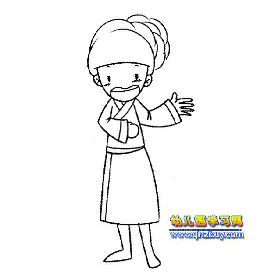 简笔画 开心的小女孩4