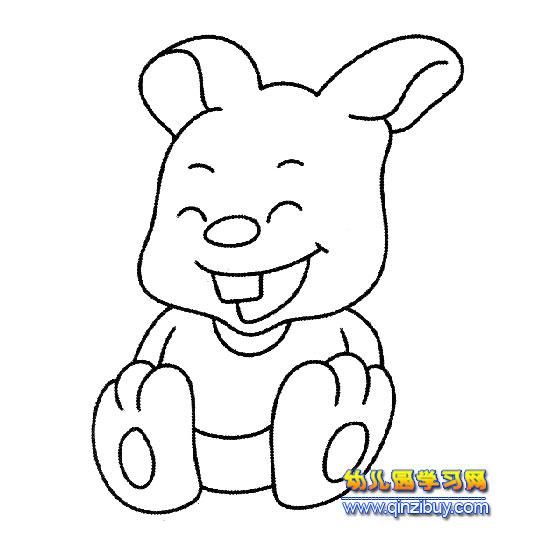 动物简笔画 小白兔5