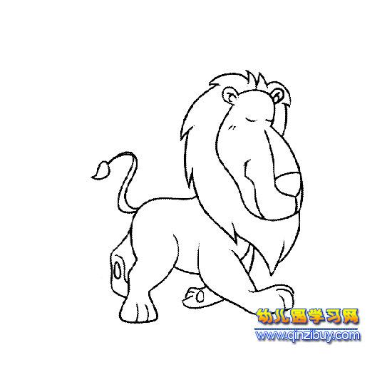 奔跑的狮子(简笔画)—幼儿园教案网