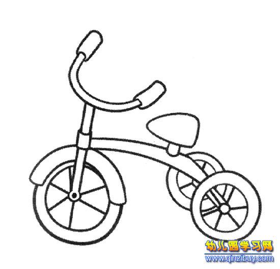 儿童三轮车(简笔画)