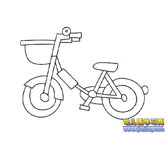 简笔画 儿童自行车