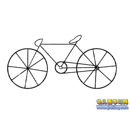 简笔画 一辆自行车