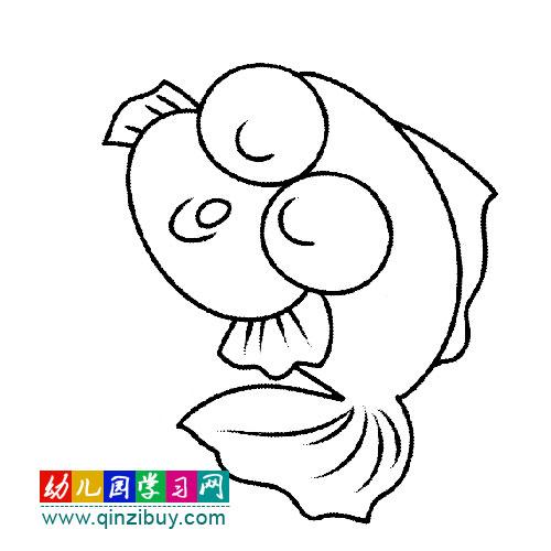 简笔画:皎洁的月亮 幼儿园学习网