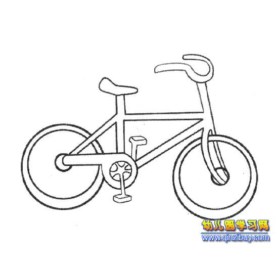 骑自行车幼儿园玩游戏简笔画图片