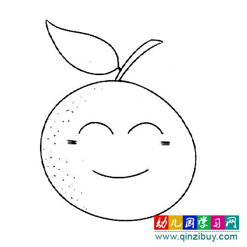 桔子水果卡通简笔画,儿童水果简笔画桔子,桔子简笔画(第6页)_点力图库