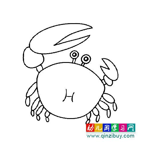 简笔画:大夹螃蟹4