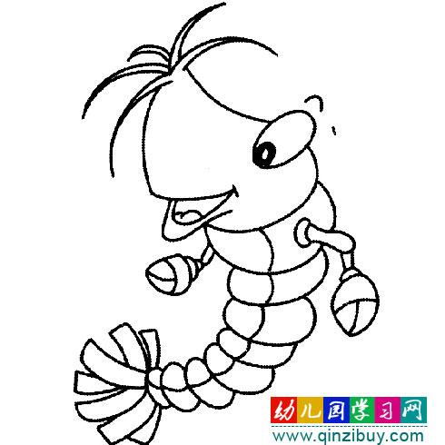 得意的虾(简笔画)—幼儿园教案网