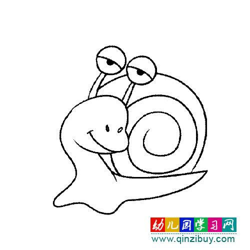 简笔画:大眼睛蜗牛2