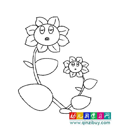 幼儿园卡通简笔画雨伞
