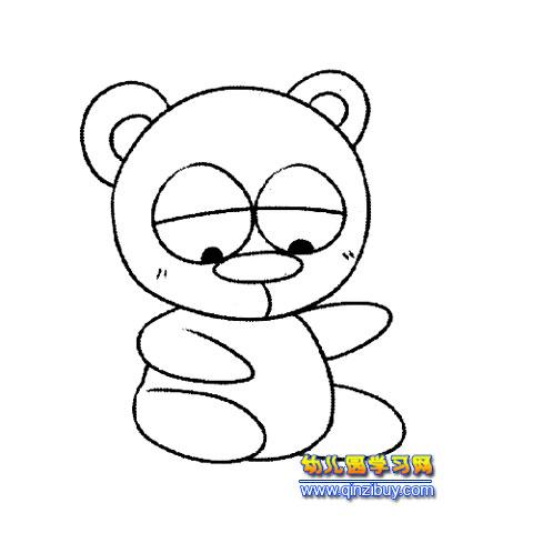 简笔画:可爱的大熊猫3