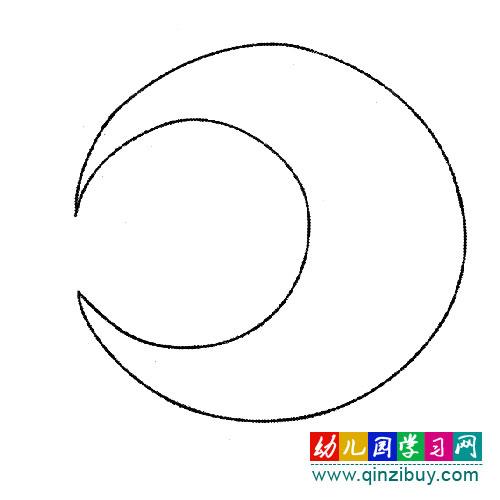 月亮弯弯,幼儿园美术教案