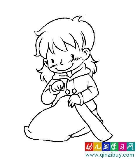卡通女孩简笔画图片_简笔画:小女孩3—幼儿园教案