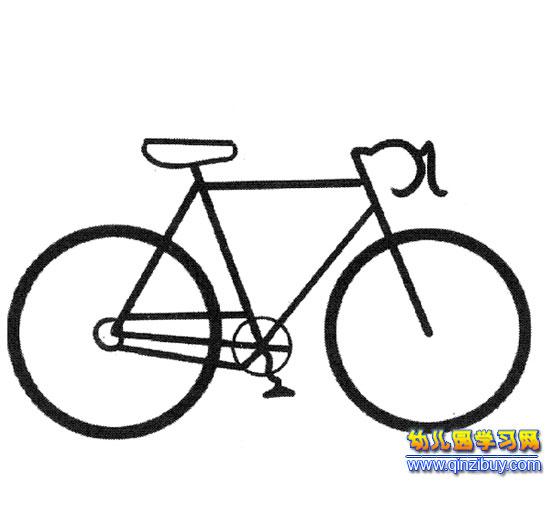 一辆自行车(交通工具简笔画)-幼儿园教案网