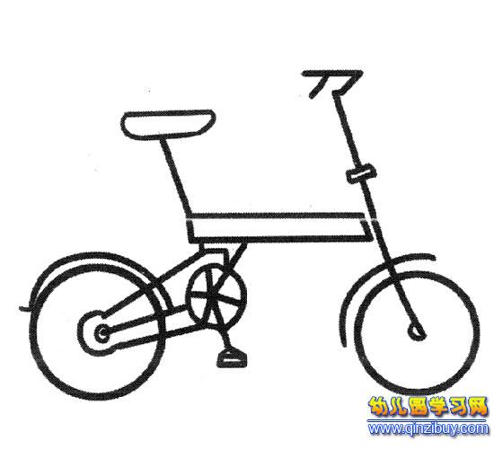 折叠自行车(简笔画)