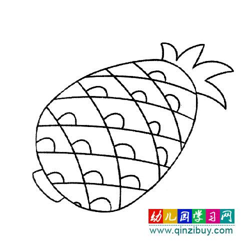 黄橙橙的菠萝简笔画 幼儿园教案网