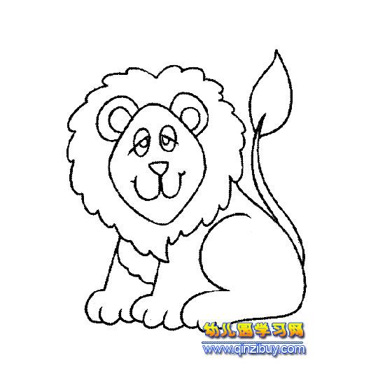 狮子2 简笔画