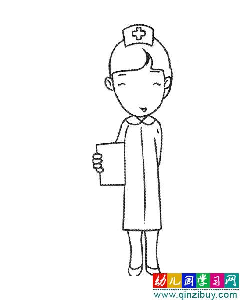 护士形象卡通简笔画_护士卡通简笔画,护士形象简笔画图片