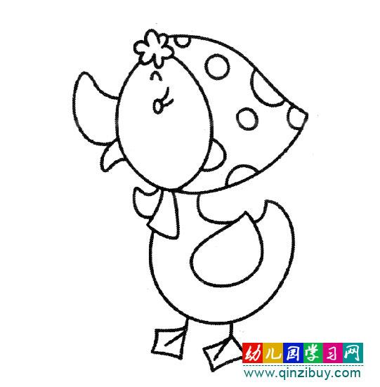 戴着小红帽的鸭子(简笔画)—幼儿园教案网