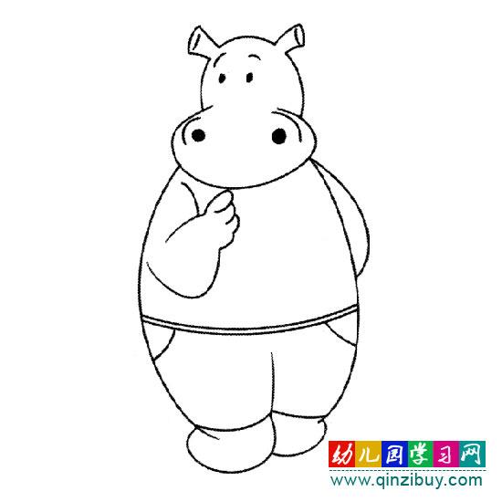 简笔画:卡通河马 1—幼儿园教案网_幼儿999
