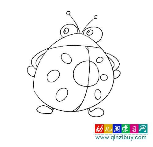 大眼睛瓢虫(简笔画)