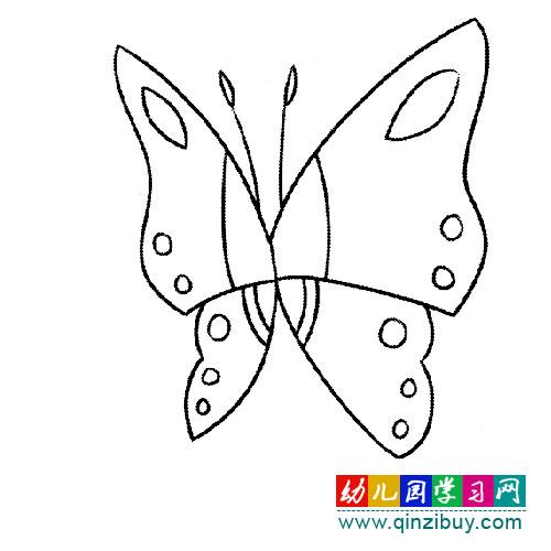 挥动翅膀的蝴蝶 简笔画