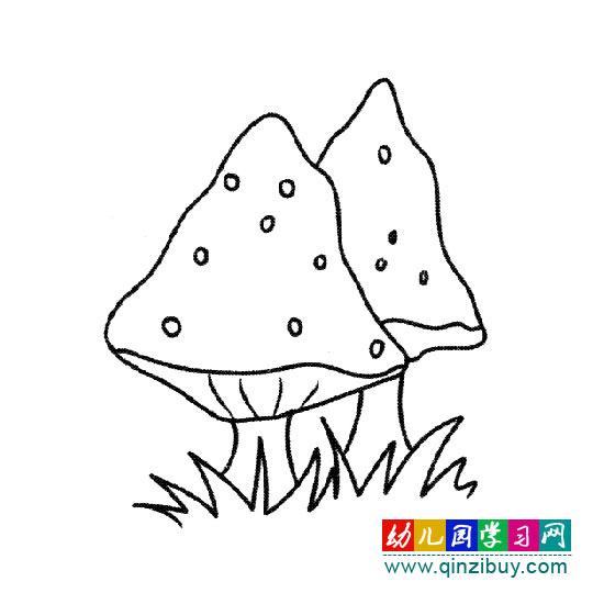 充满生命力的蘑菇 简笔画