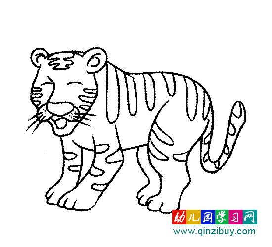 简笔画:凶猛的老虎; 卡通老虎简笔画_卡通老虎简笔画图片_卡通老虎图片
