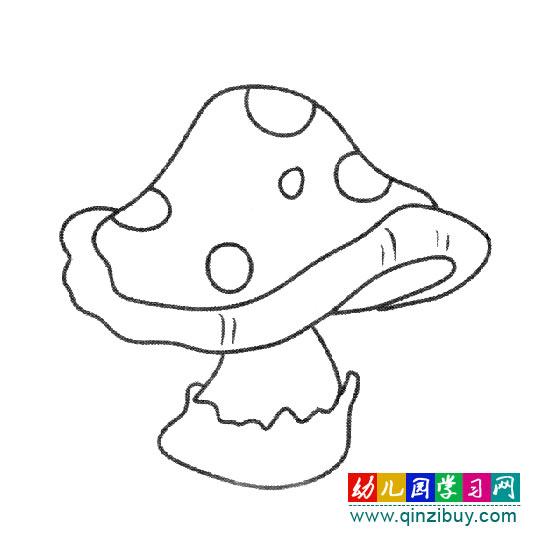 好吃的蘑菇(简笔画)—幼儿园教案网